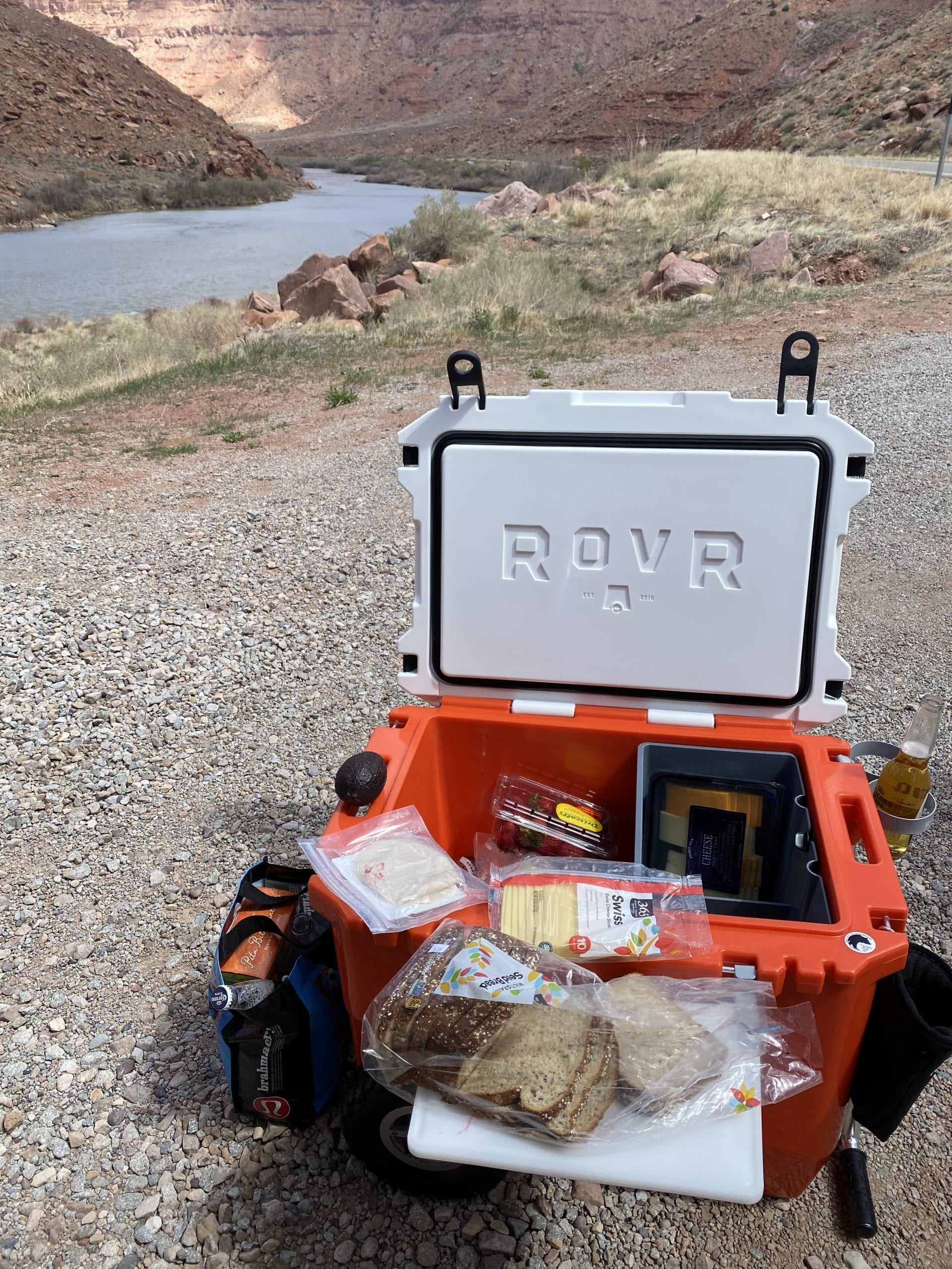 Kylie Bearse Rover Cooler on Moab Picnic